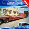 4 Ejes plegable cuello de cisne Lowboy Truck Semirremolque