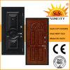 Chapa de madera MDF Puerta de seguridad de acero interior (SC-A223)