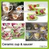 Ceramische Kop en Schotel, Kop voor Koffie, de Kop van de Koffie