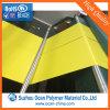 Strato rigido lucido giallo del PVC del Matt/per la modifica del supermercato