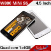 ギャラクシーMini S5 4.5 Inch Mtk6582 Quad Core Android 4.2.2 OS WiFi GPS 3G WCDMA Dual Card Standby Smart Mobile Phone W800