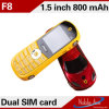 Het verkopen Phones met de Sportwagen van Keyboard F8 Pretty Cool Phone Dual SIM Card Support QQ, MP3, GSM Mini van Long Standby Autotelefoon