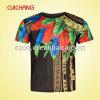 L'impression en gros de transfert thermique de polyester conçoivent le T-shirt en fonction du client Ts-020 des hommes de bonne qualité de Fashional