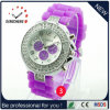 Manera Silicone Ginebra Wrist Crystal Watch para Lady Women (DC-1149)