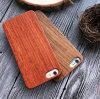 Het gecarboniseerde Houten Hout van Pecannoten Gemaakt tot Kunstwerk voor iPhone 5 het Houten Geval van Telefoon 6