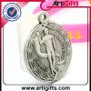 Argent antique plaqué par médaille personnalisé en métal de modèle