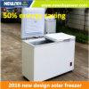 Congélateur économiseur d'énergie de poitrine d'énergie solaire de 50%