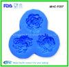 moule de Rose du silicone 3D pour l'art déco
