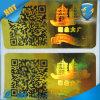 De Sticker van het Hologram van de Laser van de Garantie van het Embleem van de douane/het Weerspiegelende 3D Etiket van de Laser met Code Qr
