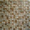 mosaico cristalino de la pared del mosaico de la mezcla de la resina y del mármol de 15GRP009 Brown