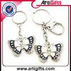 Metal promocional Keychain del diseño de la mariposa con el Na