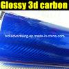 Лоснистое 3D Carbon Fiber Vinyl для Car Wrapping
