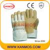 Желтый Белый Свинья зерна кожаные перчатки работы Промышленные (22003)