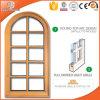Окно древесины лиственницы древесины сосенки окна Casement Кругл-Верхней части решетки твердое