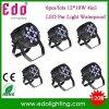 6PCS/Lots liberano la fase chiara 4 del DJ del proiettore di luce di PARITÀ DMX512 di trasporto 12*10W RGBW LED in 1 luce PAR