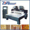 Il doppio caldo di vendita 2015 dirige il macchinario di legno di CNC dei 8 assi di rotazione