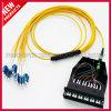 Conjunto 12F MPO da fibra óptica à atuação do cabo 40 da fuga do LC com gaveta