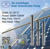 versenkbare Solarwasser-Pumpe Gleichstrom-300W-1500W, tiefe wohle Pumpe, Edelstahl-Pumpe