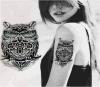 Etiqueta engomada temporal impermeable del arte de carrocería de la etiqueta engomada del tatuaje del tótem del modelo del buho