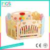 ゲームの塀(HBS17066A)が付いている屋内プラスチック赤ん坊のベビーサークル