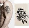 Etiquetas engomadas temporales impermeables del tatuaje del dragón del tótem de moda de Phoenix