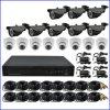 red independiente DVR de los kits 16CH del CCTV DVR de 1.3MP Ahd con el sistema de seguridad de las cámaras de vigilancia 16CH