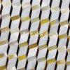 Пресноводная раковина и желтые раковина Mop губы и плитка мозаики косоугольника раковины пер
