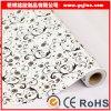 Papel pintado floral negro impermeable auto-adhesivo del PVC