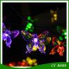 Indicatore luminoso solare variopinto 20LED/30LED della stringa della farfalla LED per la decorazione del partito di festival dell'albero di Natale