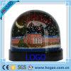 Пластичный глобус воды шарика снежка с луной внутрь