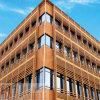 Panneau en aluminium d'éclat d'architecture d'or en métal pour la décoration de revêtement