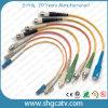 Koord van het Flard van de Kabel van de vezel het Optische met Schakelaar Sc/FC/LC/St/MTRJ