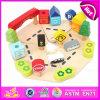 Heiße Verkaufs-Kinder täuschen Spiel-hölzerne Garage-Spielwaren, interessantes Kind-Auto-Parken-Spielzeug W04b026 vor