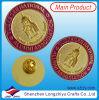 Pin do emblema do metal do ouro com esmalte de gravação da cor do edifício