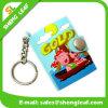 Libreta de goma del Keyring del PVC del plástico promocional en blanco de Keychain