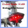 Indicatore luminoso d'avvertimento di riciclaggio luminoso della coda della coda del sensore LED di arresto dei freni del fascio laser della bicicletta 2 del fanale posteriore della bici 6 LED di sicurezza di induzione senza fili posteriore dell'indicatore luminoso