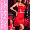 Vêtements de femmes de bloc de couleur rouge de mode