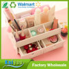 Tipo branco caixa da gaveta de DIY de armazenamento cosmética da jóia