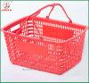 Bottom plat Plastic Shopping Basket Use dans Convenient Shop (JT-G09)