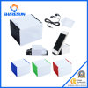 Ipa00415 3 in-1 Desk Cube Microfiber Cleaning Cloth, Construir-en Phone Stand y Matching Ear Buds.