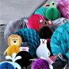 Venta al por mayor de la bola del panal del papel de la decoración de la Navidad