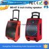 Ms-6t Rechargeable Portable Trolley Speaker con Wireless Microphone