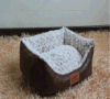 Base luxuoso do animal de estimação de Plush+Suede