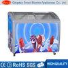 Congelatore commerciale della cassa del gelato del portello di vetro di scivolamento