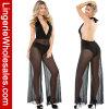 Женское бельё черного Глубокого-V Backless комбинезона сексуальное для женщин