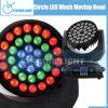 Programmes de cercle de lavage de DEL déménageant la lumière principale d'étape (CY-LMH-C36)