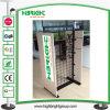 Crémaillère d'étalage en bois personnalisée élégante pour le système