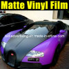 Matt Black y Purple Car Color Change Vinyl