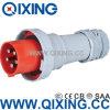 Plugue masculino de padrão europeu de Qixing 125A (QX1447)