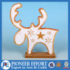 Het houten Ontwerp van het Rendier van Kerstmis voor het Hoogste Decor van de Lijst
